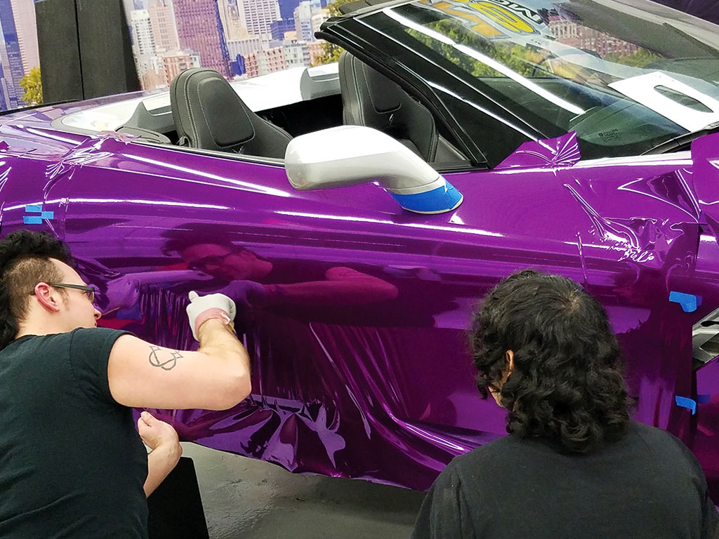 Color Changing Car Wrap Example